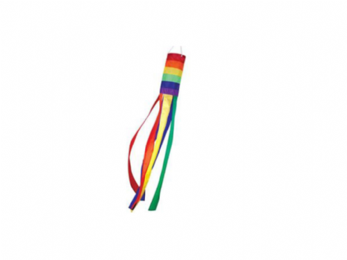 Rainbow Windsock with Line & Swivel - Wind Direction  Flag Pole Colourful